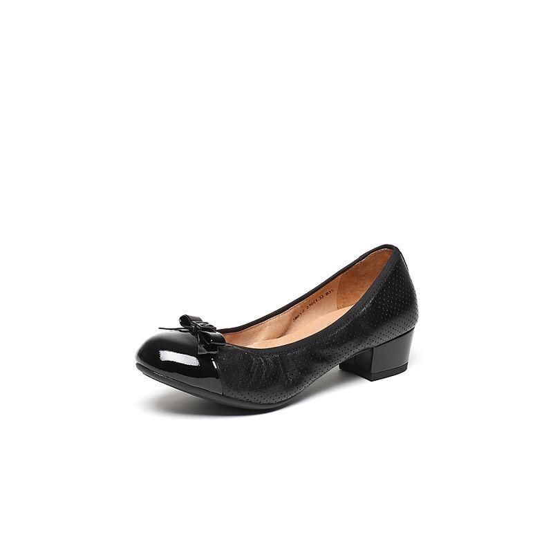 Belle/百丽2017春专柜同款经典百搭绵羊皮女单鞋3B6Y2AQ7