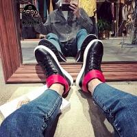 米乐猴 潮牌秋季百搭韩版男鞋增高白色高帮运动鞋男休闲鞋子男潮鞋高帮板鞋男