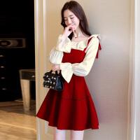 2018新款女装春装潮韩版吊带裙子两件套连衣裙甜美小香风时髦套装