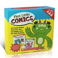 英文原版 First Little Comics Levels A&B New Readers 20册学乐初级阅读亲子