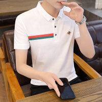 POLO短袖 2021夏季新款男款韩版潮流衬衫领POLO衫短袖 163男装17011