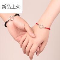 本命年情侣红绳手链男女一对韩版简约学生个性森系闺蜜纯银红绳手链一对学生手链一对情侣手链男女一对经典