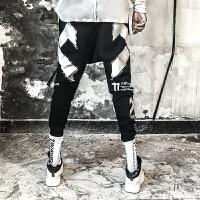 新款嘻哈街头秋冬休闲裤男士欧美个性小脚裤潮流哈伦裤束脚裤男