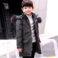 儿童羽绒服男孩子冬季男童中长童装加厚中大童保暖外套
