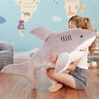 毛绒玩具大号鲨鱼公仔白鲨布娃娃可爱抱枕男女生睡觉玩偶生日礼物