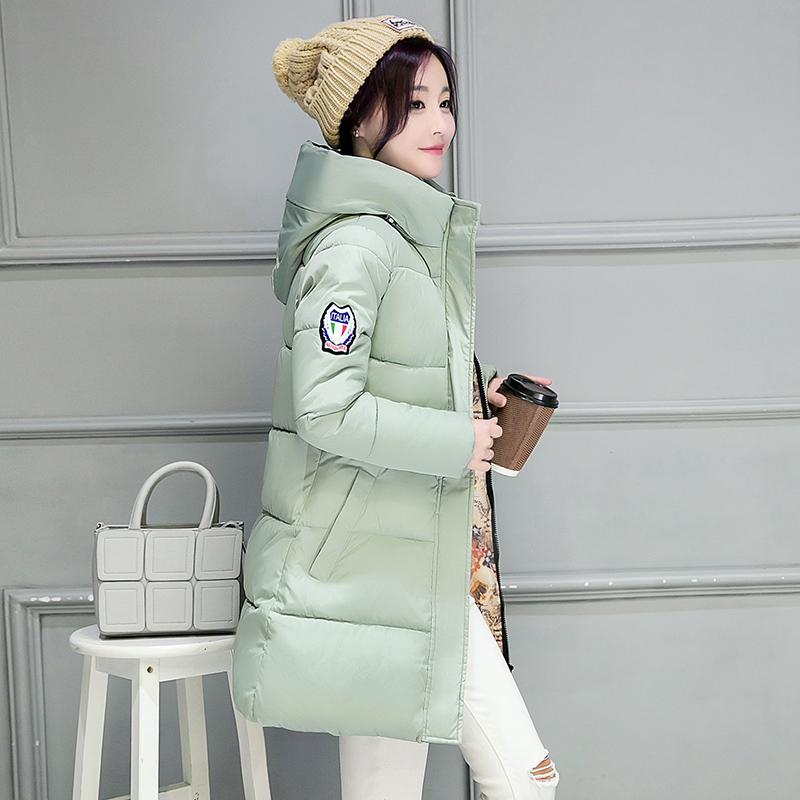 慈姑2018新款秋冬新款羽绒女中长款韩版修身棉衣大码加厚学生外套