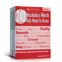英文原版 240 Vocabulary Words Kids Need to Know240个词汇练习册Grade1-