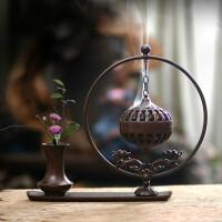 家居装饰品创意摆件吊挂纯铜盘香炉家用室内中式倒流香炉