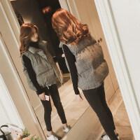 格子羽绒棉马甲女士秋冬短款韩版2018新款潮流外套bf百搭背心冬季套装