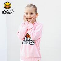 【4折价:139.6】B.Duck小黄鸭童装男女童针织戴帽卫衣BF1008902