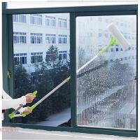 长杆可伸缩双面玻璃清洁器擦窗器�c窗户瓷砖墙壁清洁拖把工具居家实用