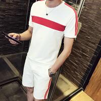 夏季短袖T恤男初高中学生五分短裤套衣服韩版潮流休闲运动套装