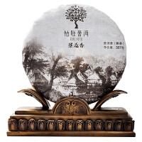普洱茶景迈香-静香357g熟饼景迈山古籽茶