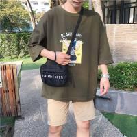 2018夏季新款短袖男士衣服男装T恤五分袖韩版体T恤夏装潮流情侣