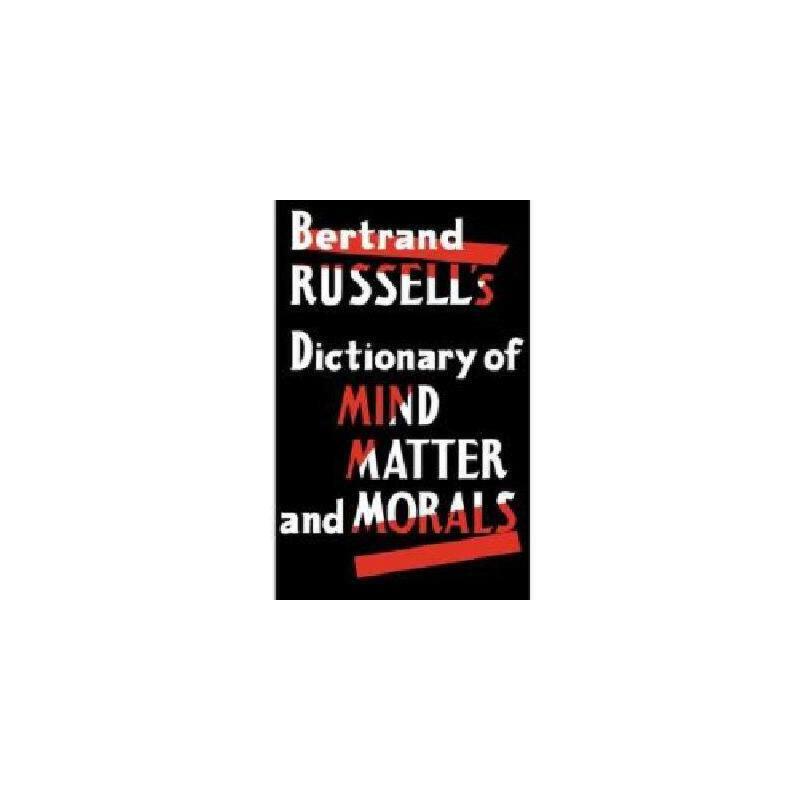 【预订】Dictionary of Mind Matter and Morals 美国库房发货,通常付款后3-5周到货!
