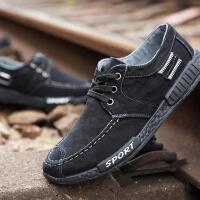 春季新款男鞋子韩版潮流学生百搭休闲帆布鞋男士布鞋透气英伦板鞋