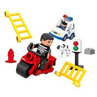 大颗粒警察拼装系列场景组装儿童积木玩具 2-4-9周岁