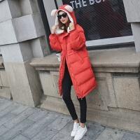 棉衣女中长款2017学生bf面包服宽松显瘦可爱大码加厚外套