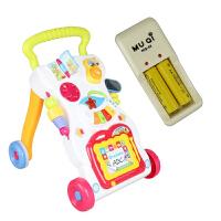 婴儿学步手推车可调速可调速婴儿手推学步车早教带音乐宝宝助步玩具学步车多功能车 学步车送水箱配螺丝充电器和电池 充电版