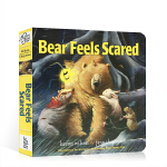 英文原版绘本 Days with Bear系列 Bear Feels Scared 小熊感到害怕 吴敏兰推荐 纸板书