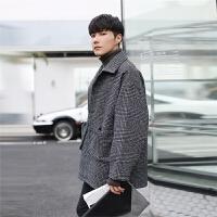 青少年中长款风衣学生披风外套秋冬装韩版男士毛呢大衣