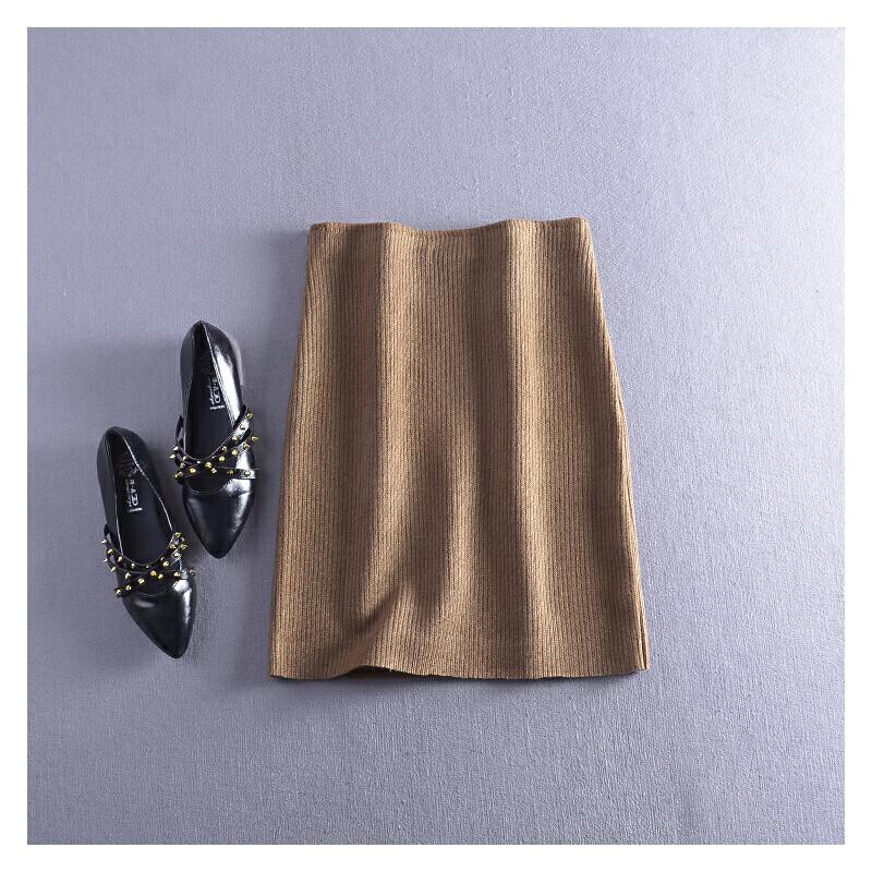 【C1】FSLL12秋冬季韩版后开叉包臀半身裙Z 发货周期:一般在付款后2-90天左右发货,具体发货时间请以与客服协商的时间为准