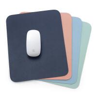 简约皮革办公桌垫小号鼠标垫PU皮防水垫可爱女生鼠标皮革垫子