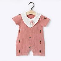 爬爬服婴儿夏女宝宝夏装衣服夏季女宝宝连体衣六短袖