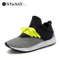【一口价:154元】星期六(ST&SAT) 专柜同款男鞋弹力布平跟圆头时尚单鞋SS71129820