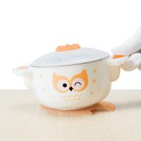 婴儿碗勺套装吸盘注水保温不锈钢防摔儿童餐具宝宝辅食碗