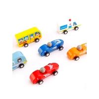 玩具车男孩儿童回力车惯性小汽车玩具迷你木制儿童玩具2-3-6周岁