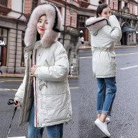 大毛领棉袄外套女冬装2018韩版宽松加厚羽绒棉衣百搭工装