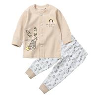婴儿秋天套装长袖衣服纯棉开衫男女宝宝内衣秋衣秋裤童装