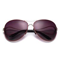 时尚潮大框圆长脸款偏光太阳眼镜女士开车墨镜