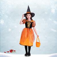 万圣节儿童服装女巫表演服装白雪公主裙子女童王子服装男童演出服