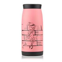 普润 500ML不锈钢保温杯 大肚杯水杯茶杯 情侣杯时尚便携杯PRB19 粉红