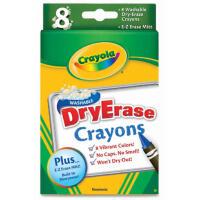 美国[Crayola绘儿乐] 官网专卖 8色可水洗大蜡笔 白板专用98-5200
