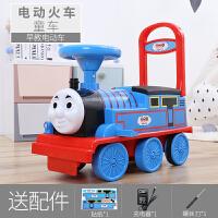 朋海托马斯小火车头套装轨道车电动小汽车儿童玩具男孩1-3岁可坐4 灯光音乐 电瓶车 (电动) 官方标配