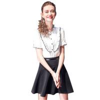 白衬衫女短袖2018夏季新款雪纺衫衬衣韩版宽松百搭套头衫打底上衣