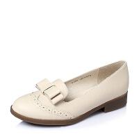 Tata/他她春季专柜同款软牛皮浅口女单鞋2I203AQ6
