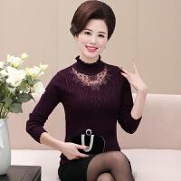 中年女装秋冬毛衣短款长袖女士30-40岁50岁妈妈装高领打底衫春秋
