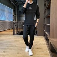 新款男休闲套装青少年潮流搭配帅气运动服两件套学生运动套装