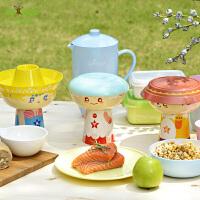 宝宝餐具三件套 儿童餐具套装玉米碗餐盘水杯星座