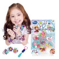 迪士尼冰雪奇缘公主款 波普珠珠DIY手工无绳串串珠项链女孩玩具
