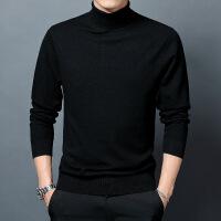 羊毛衫男高领双翻领修身毛衣秋季男士薄款打底衫中年修身针织衫