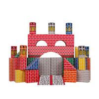 拼搭城堡积木 儿童仿真纸砖积木幼儿园建构区角游戏玩具儿童