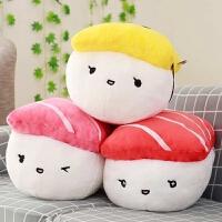 创意寿司抱枕毛绒玩具靠枕韩国搞怪饭团玩偶女生萌娃娃