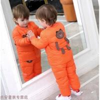 冬季儿童羽绒服宝宝羽绒服套装女1-3岁婴儿男女童装轻薄款 冬装两件套秋冬新款