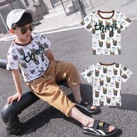 童装男童夏季短袖T恤新款潮儿童宝宝男孩夏装上衣