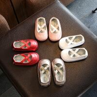 夏季女孩子宝宝学步凉鞋 女童婴幼儿包头鞋
